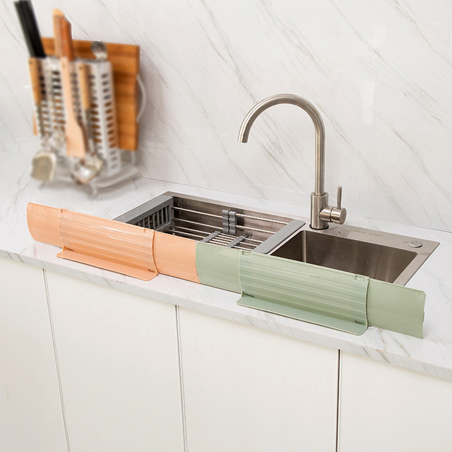Kitchen Wash Basin Sticky Sink Water Splash Guards Dish Washing