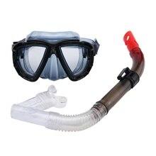 89a0427b3 Profissional Máscara de Mergulho óculos de mergulho engrenagem kit conjunto  de Equipamentos de tubo de Respiração