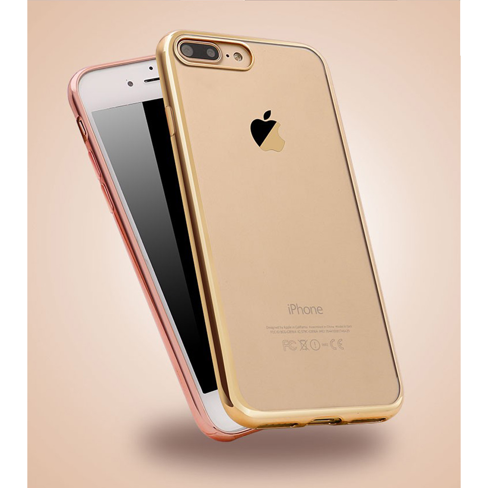 Luxury Ultra Thin Rose Gold Soft TPU Phone Cases cover For iphone 7 plus case Mobile Phone bags Silicone Back Cover