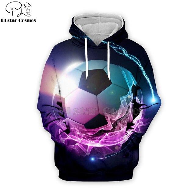 PLstar Cosmos sport footballs 3D Print Hoodies/Sweatshirt/Jacket/shirts Tees Men Women Galaxy Unisex streetwear Drop shipping-9