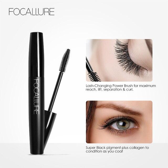 Professional Volume Curled Lashes Black Mascare Waterproof Curling Tick Eyelash Lengtheing Eye Makeup Mascara by Focallure 2