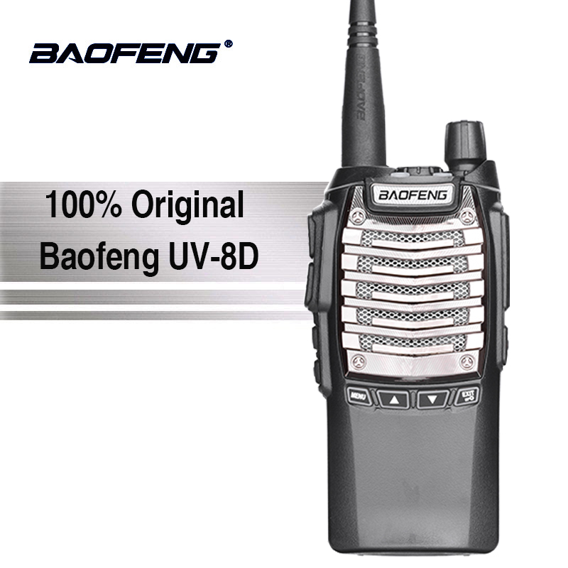Baofeng UV-8d Walkie Talkie 10 km Lungo Raggio 8 w di Trasporto Auricolare Potente Portatile A Due Vie Radio Amador Professinal Woki toki UV-82