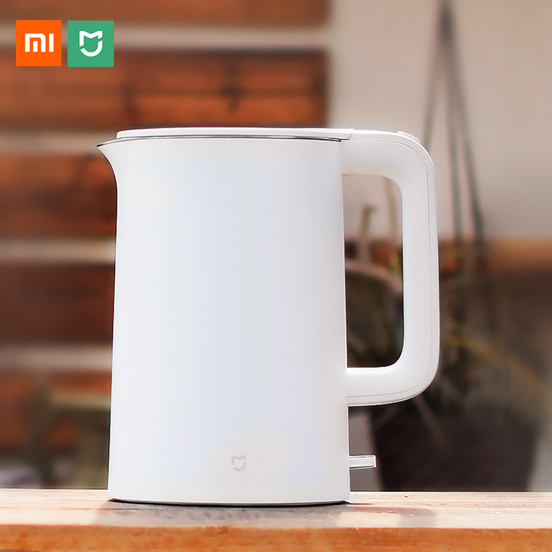 Xiaomi Mijia Electric Kettle Auto Power-off Protection Wired Handheld Instant Heating Smart Water Boiler 1.5L Stainless Steel