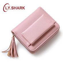 LY.SHARK purses for women wallet women purse female wallet small pu leather wallet lady with coin pocket card holder money bag leftside designer pu leather women cute short money wallets with zipper female small wallet lady coin purse card wallet purses