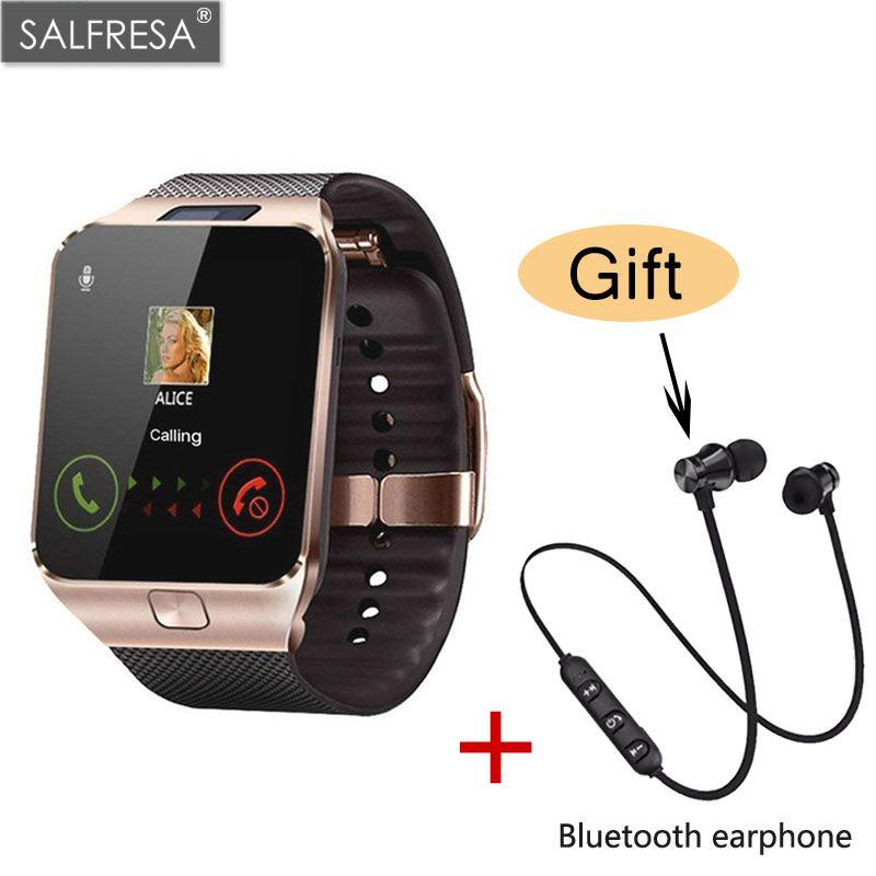 SALFRESA Bluetooth Smart Watch in DZ09 Smartwatch TF SIM della Macchina Fotografica Delle Donne Degli Uomini di Sport Orologio Da Polso per Samsung Huawei Xiaomi Android Phone