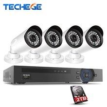 Techege 4ch 1080 P 48 В/15 В 2.0mp poe nvr ip камера poe система Cloud 1080 NVR КОМПЛЕКТ Системы Видеонаблюдения Камеры Системы ВИДЕОНАБЛЮДЕНИЯ PoE Комплект