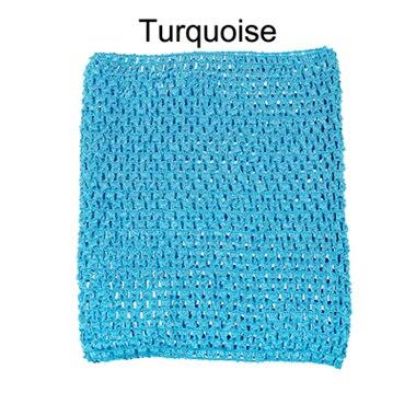 Вязанная крючком юбка-пачка для маленьких девочек, 9 дюймов, топы-трубы, обхват груди, широкая вязаная крючком, топы, юбка-пачка «сделай сам», платье, поставщик - Цвет: Turquoise tutu top