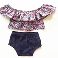ZBAIYH Baby Girls Clothes Sets Summer Flower Newborn Cotton Casual Suit Kids Outfits Infant Toddler T-shirt+Shorts Clothing