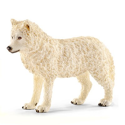 Original Genuine Simulation Animal Figurine Model Toy Arctic Wolf Figure Doll PVC Decorative