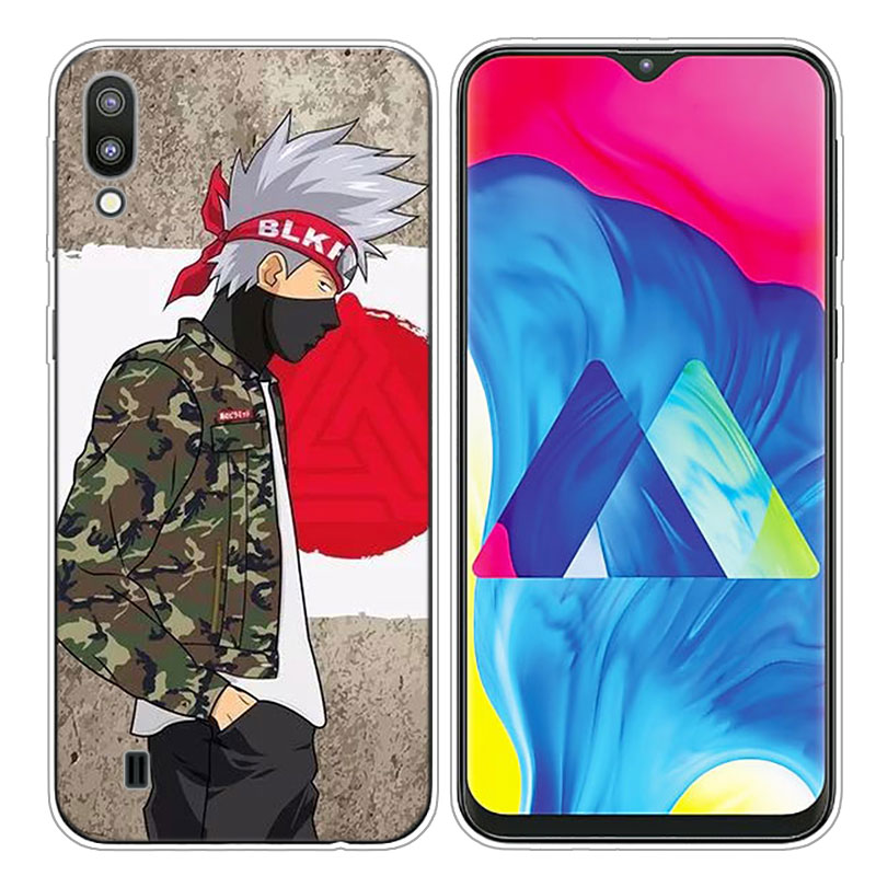 Transparent Soft Silicone Phone Case naruto sasuke uchiha for Samsung Galaxy S10 S10e S10 Plus S10 M10 M20 Cover in Fitted Cases from Cellphones Telecommunications