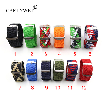 CARLYWET 20 22mm Perlon Nylon Replacement Vintage Wrist Watch Band Belt Strap With Brushed Buckle For All Watch lifelike silicone reborn baby menina alive 50cm newborn baby dolls full vinyl body wear bebe infant clothes truly kids playmates