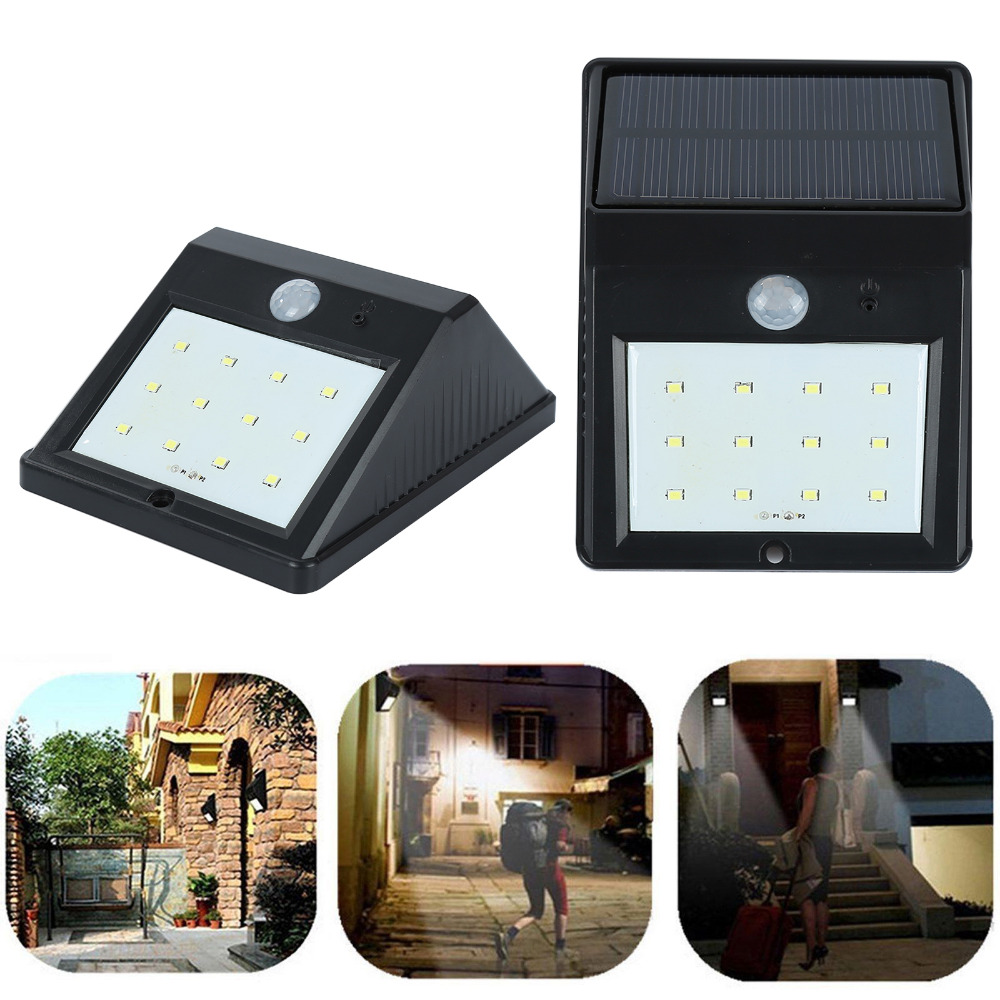 12 LED Waterproof IP65 Solar Powered Wireless PIR Motion Sensor Light Outdoor Garden Landscape Yard Lawn Security Wall Lamp outdoor led garden light security 90 led solar light pir motion sensor solar powered emergency wall lamp waterproof ip65