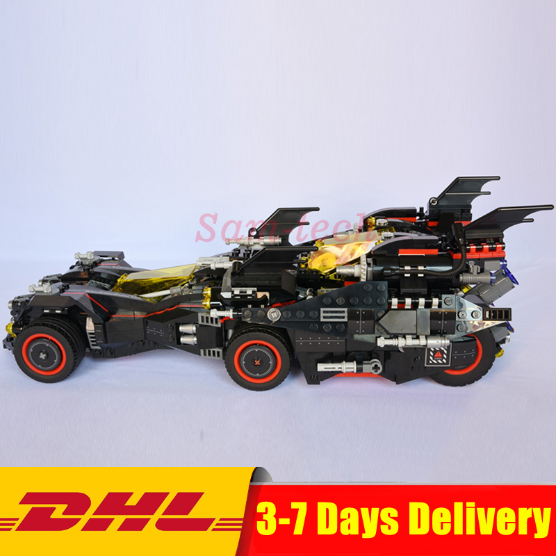 DHL Lepin 07077 Genuine Batman Movie Series The Ultimate Batmobile Set Educational Building Blocks Bricks Toys Model Clone 70917 lepin 07060 super series heroes movie the batman armored chariot set diy model batmobile building blocks bricks children toys