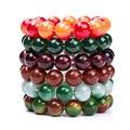 Top Quality 17 Color Fashion Crystal Beads Bracelet Peach Stone Bracelet vintage Women and Men Bracelet Jewelry Wholesale