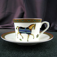 European Phnom Penh Bone China Coffee Cup Saucer Tea Cup Red Tea Cup