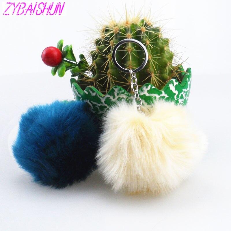 2018 простой волос плюшевая игрушка мяч помпонами имитация плюшевый кролик брелок для Kia Rio K2 K3 K5 K4 Cerato, soul, Forte, Sportage R, SOR