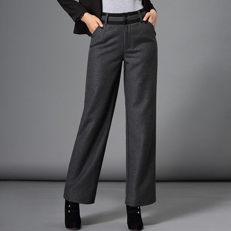 2018 autumn winter pants women fashion formal plus size. Black Bedroom Furniture Sets. Home Design Ideas