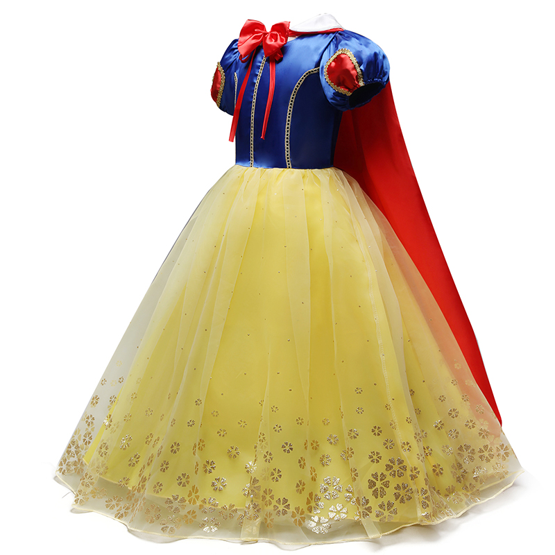 2018 Children Girl Snow White Dress for Girls Prom Princess Dress Kids Baby Gifts Intant Party Clothes Fancy Teenager Clothing(China)