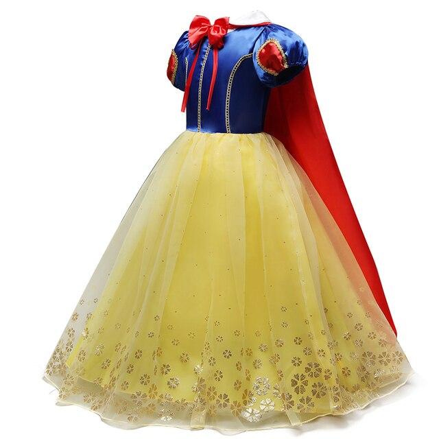 2018 Crianças de Neve Menina Vestido Branco para As Meninas de Baile Vestido de Princesa Crianças Presentes Do Bebê Roupas de Festa Fantasia Adolescente Roupas Intant