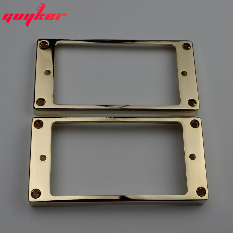 1 Set Gold Humbucker Pickup Frames Neck And Bridge Pickup Mounting Ring Curved Tapered For LP Electric Guitar