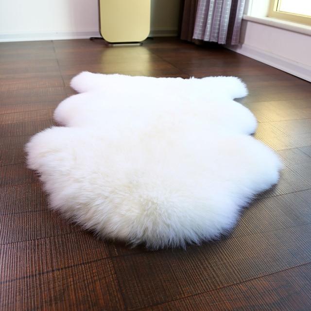 Sheepskin Fur Rug For Home Decorational One Pelt Sheep