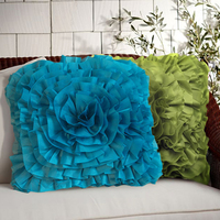 High Quality cushions wedding Dustproof Natural Vintage Blending lace flower style Sofa throw pillows cushions home decor