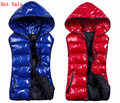 New 2017 Autumn & Winter Women's Sleeveless Hooded Shiny Vest Lady Fashion Down-Padded Casual Waistcoat Cotton With A Hood Vests