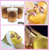 24 Karat GOLD Aktive Gesichtsmaske Pulver Aufhellung Luxus Spa Anti-aging-falten Behandlung Gesichtsmaske 300g