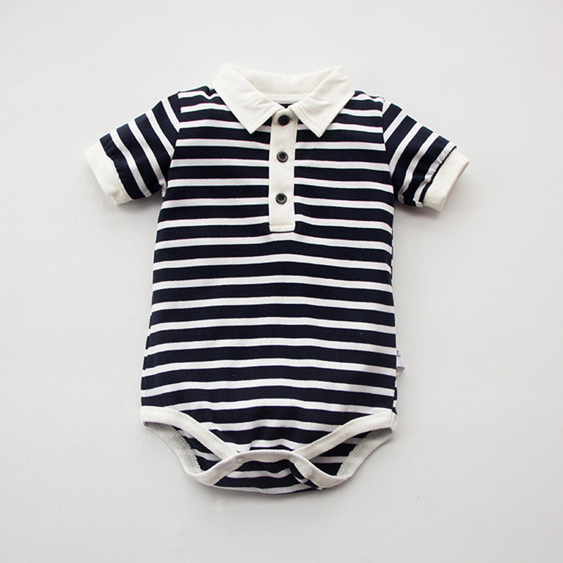 Summer Baby Rompers Cotton Baby Girl Clothes Navy Baby Boy Clothes Newborn Baby Clothes Roupas Bebe Infant Jumpsuits Striped