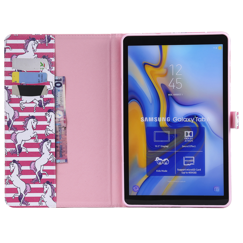 Luxury Horse Print Leather Magnetic Flip Wallet Tablet Case Cover Coque Funda For Samsung Galaxy Tab A S3 10.5 Sm T590 T595 2019
