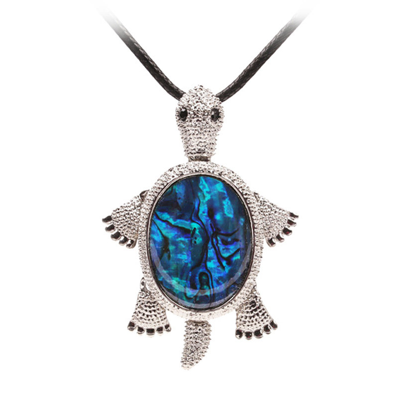 Natural Abalone Shell Turtle Necklace Women Vintage Maxi ...