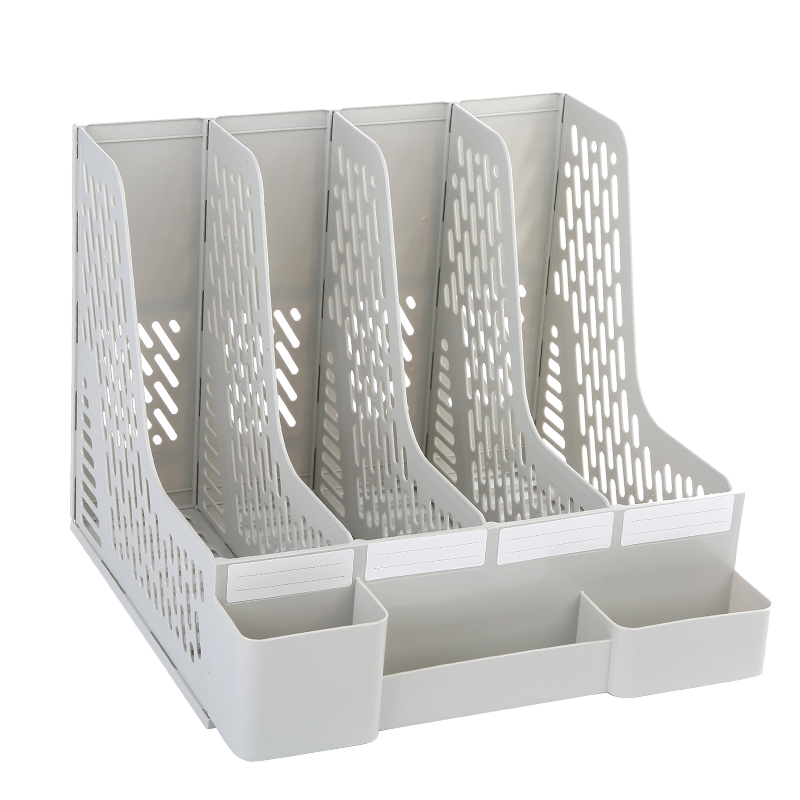 цена на 4 Shelf Document Trays Office Supplies Desk Organizer for File Folders, Magazines, Notebooks