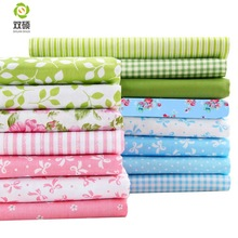 Fat Quarters Fabric Bundles 15 forskjellige Design Patchwork Stoff Til Sy Dukkeduk DIY Cloth Crafts 15pieces / lot 40 * 50 CM