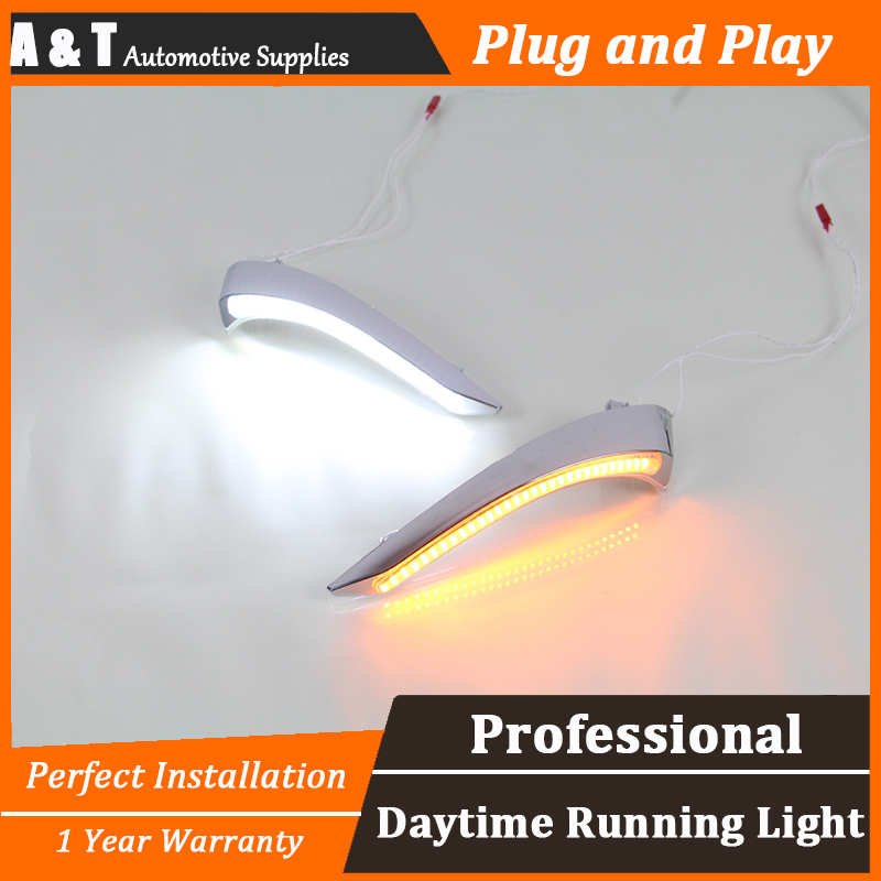 A&T car styling For Mazda 2 LED DRL For Mazda 2 led fog lamps daytime running light High brightness guide LED DRL for lexus rx gyl1 ggl15 agl10 450h awd 350 awd 2008 2013 car styling led fog lights high brightness fog lamps 1set