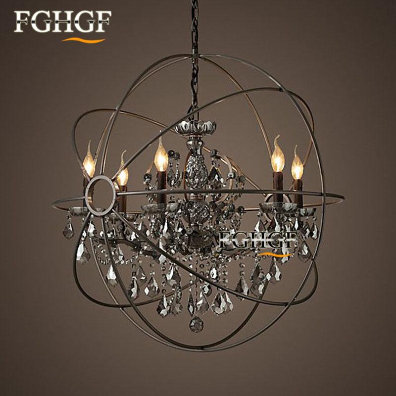Retro Crystal Chandelier Light Lustre Lamparas Lamp for Bedroom Living Room luminaria Indoor Light Chandeliers Fixtures (4)