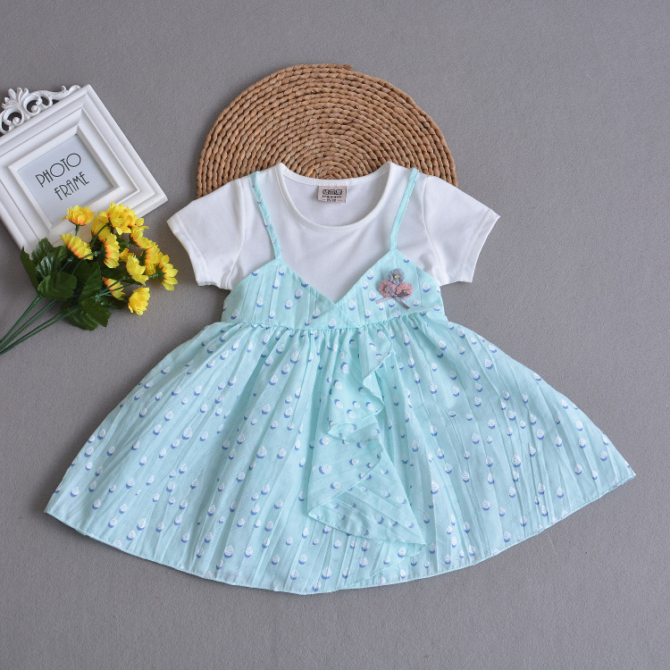 Brand Cotton Dot Blue <font><b>Baby</b></font> <font><b>Girls</b></font> <font><b>Dresses</b></font> <font><b>Baby</b></font> <font><b>Girl</b></font> Fashion Birthday Toddler <font><b>Baby</b></font> <font><b>Girl</b></font> Clothes for 1 2 <font><b>3</b></font> 4 <font><b>Years</b></font> Old RBD184001 image