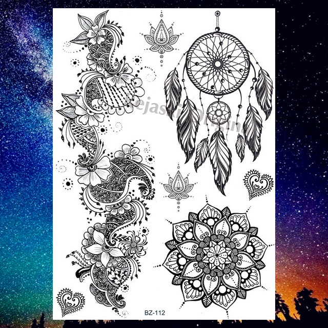 US $1 08 |REJASKI Minimalist Lavender Sweet Peas Temporary Tattoos Sticker  Flower Morning Glory Tatoos For Women Custom Tattoo Art Wrist-in Temporary