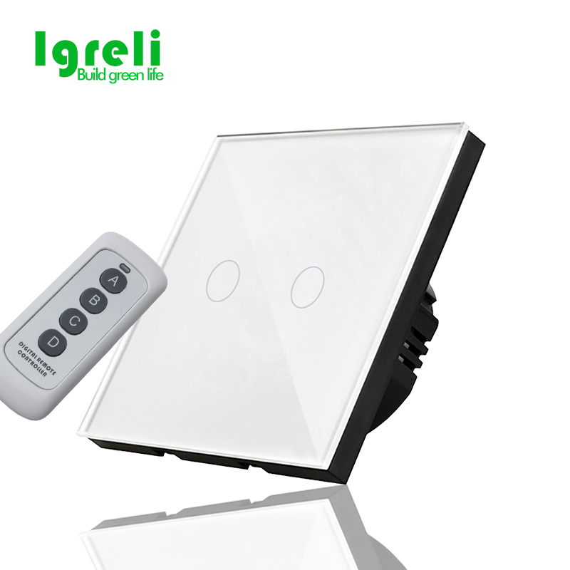EU Standard Touch Switch, Wall Light Touch Screen Switch,Remote control Wall touch switch , White, Black, Golden Three colors remote control wall switch white electric curtain switch and touch switch