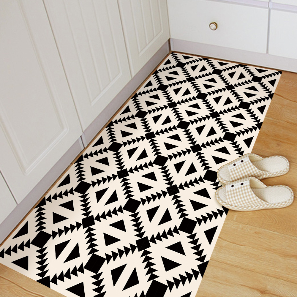 60x120 Cm Boden Dekoration Aufkleber Schwarz Und Weiss Geometrische Muster Wohnzimmer Schlafzimmer Badezimmer Kche Wandmalereien
