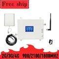 TFX-BOOSTER 2G 3G 4G мобильный ретранслятор сотового сигнала GSM 900 LTE DCS 1800 WCDMA 2100mhz трехдиапазонный усилитель сигнала сотового телефона