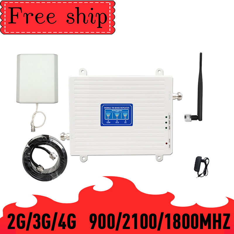 TFX-BOOSTER 2G 3G 4G Mobile Cellular Signal Repeater GSM 900 LTE DCS 1800 WCDMA 2100mhz Triple Band Cell Phone Signal Booster