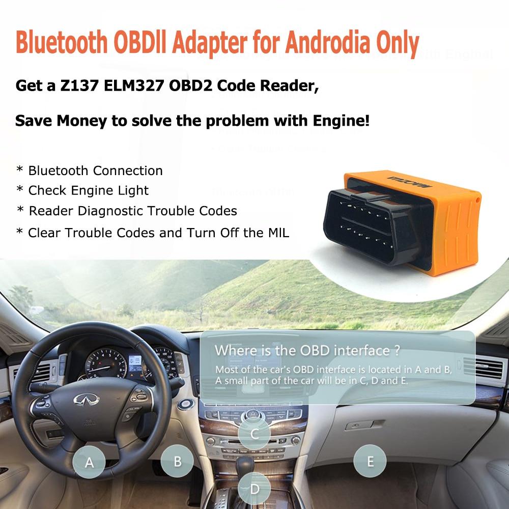 Super Mini Elm327 V1.5 Z137 Bluetooth Elm327 OBD2 Auto Diagnose Werkzeug OBD2 Scanner Adapter Code Leser Auto Diagnose Werkzeug