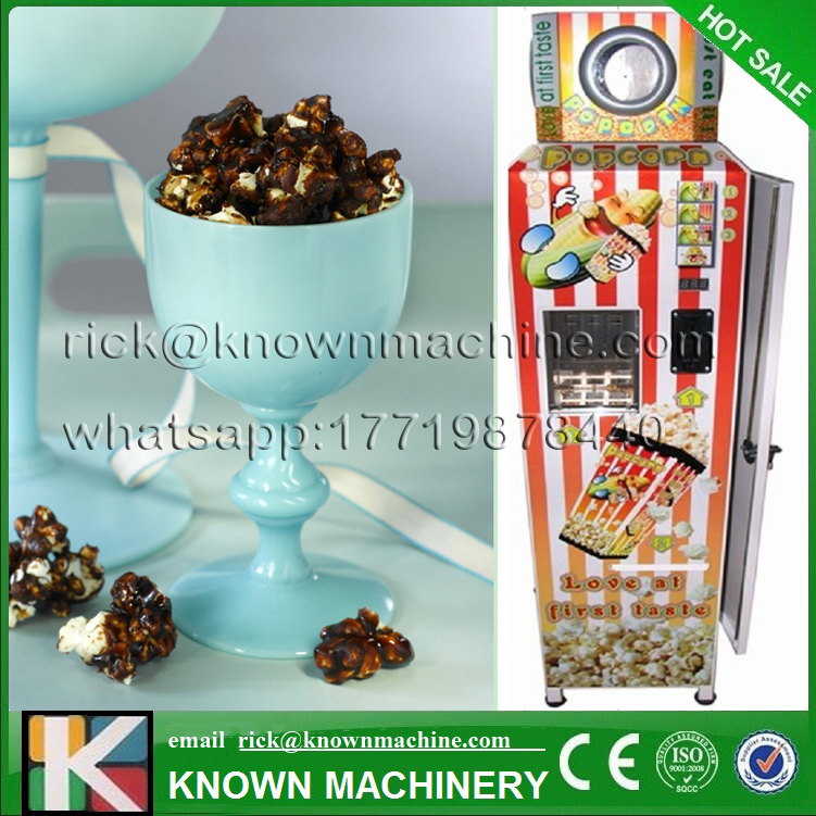 The CE certified  high quality automatic 220/110 V popcorn vending machine on hot sale arborea chinese 20 inch wind gong hot sale