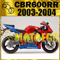 Motoegg Injection Fairing Fit CBR 600 RR 03 - 04 Motorcycle ABS plastic CBR 600 RR 2003 2004 Spider-man Red Blue 555