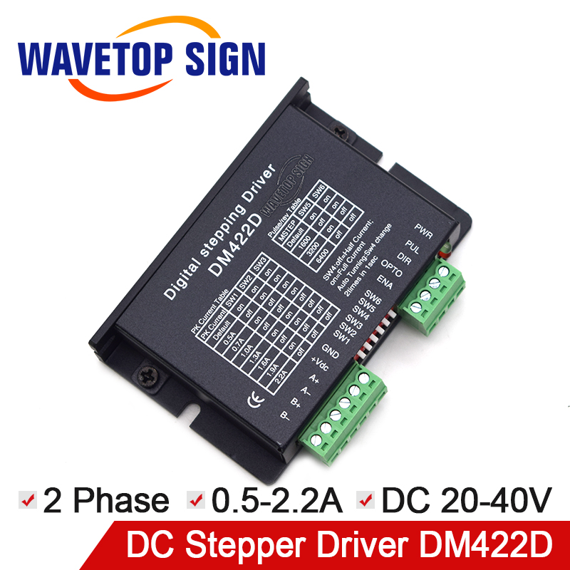 2 phase stepper motor driver DM422D Voltage 20-40VDC current range 0.5-2.2A stepper driver use for Engraving and Cutter Machine платье tsurpal tsurpal ts002ewrut58