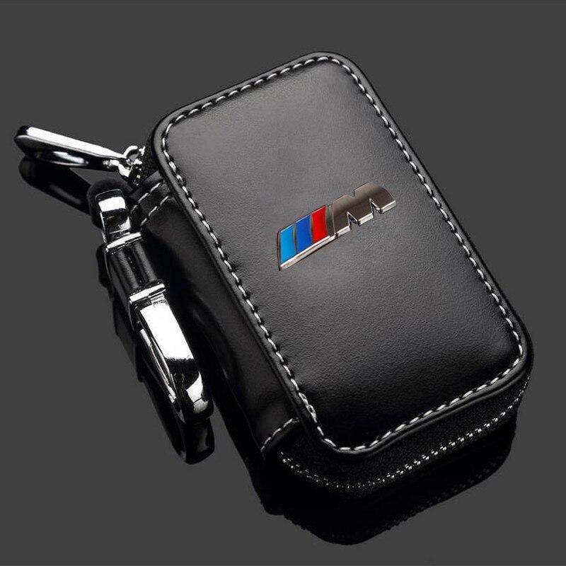 Leather Key Case For Bmw E46 E39 E90 M Performance F10 F20 F30 X1 X3 X4 X5 X6 116I 118I M1 M3 M5 Key Case For Bmw Key Cover