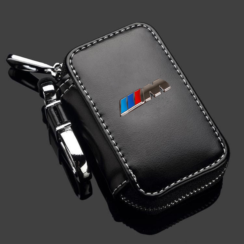 Leather Key Case For Bmw E46 E39 E90 M Performance F10 F20 F30 X1 X3 X4 X5 X6 116I 118I M1 M3 M5 Key Case For Bmw Key Cover