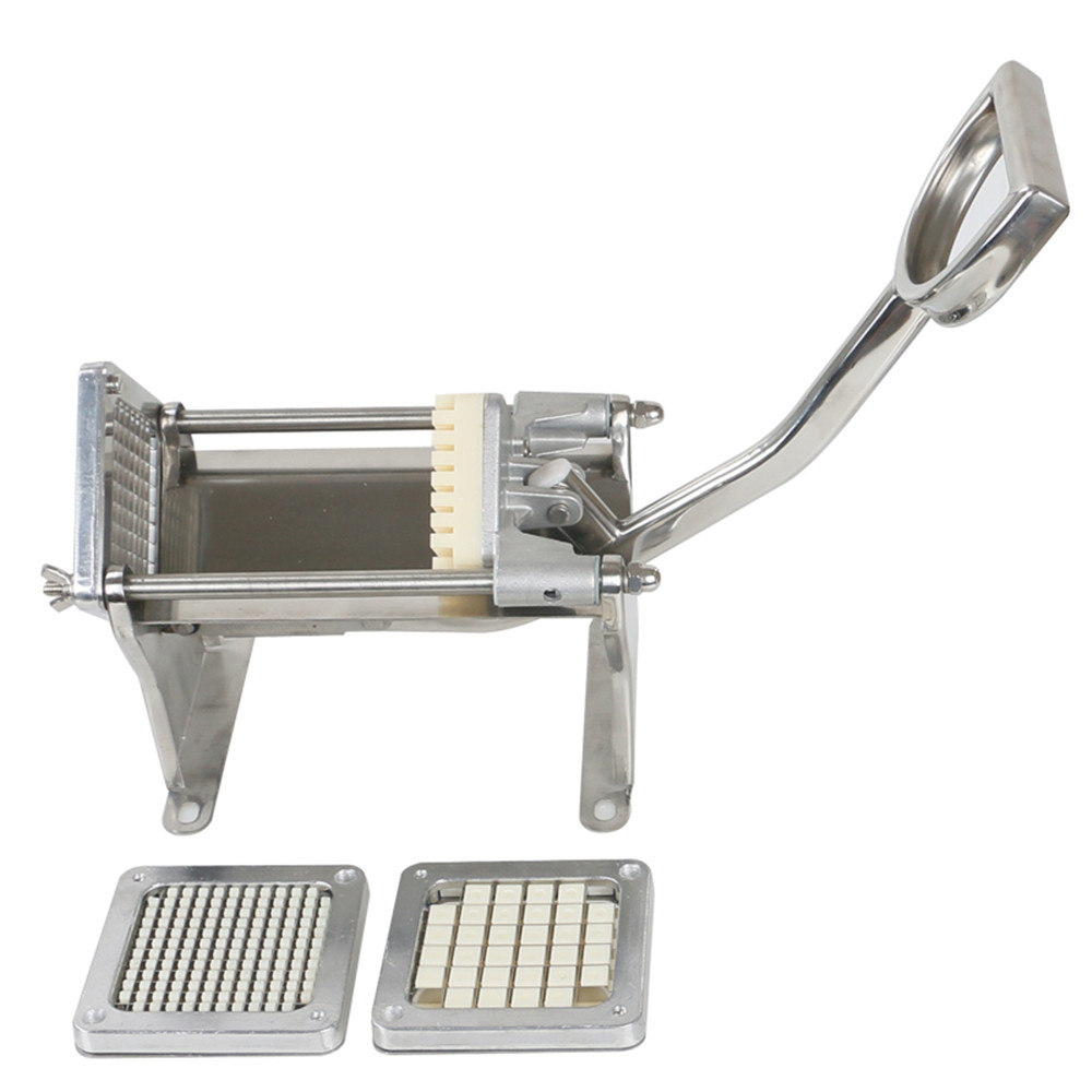 Home Use French Fries Potato Strip Cutter Chips Cutting Machine Manual Potatoes Slicer Hand Push Vegetable Fruit Chopper