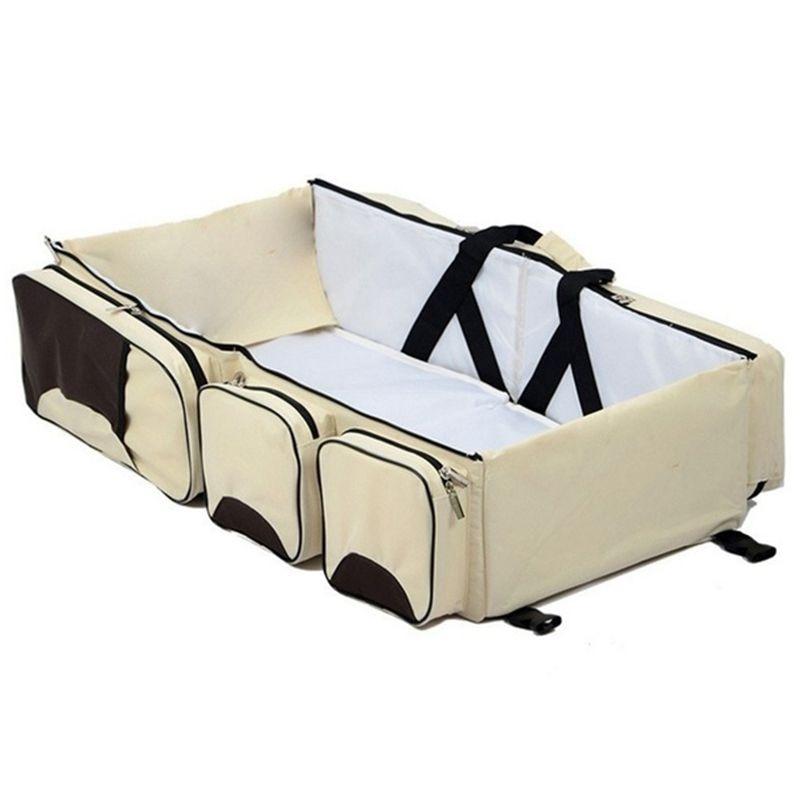 Baby 3 In 1 Multi-functional Diaper Bags Travel Bassinet - Portable Bassinet & Changing Pad Station orbit baby люлька колыбель orbit baby g3 bassinet