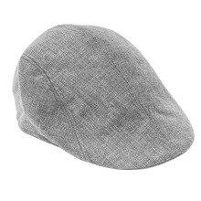Новая Серая Женская Мужская Newsboy Duckbill Кепка водителя плоская кепка таксиста льняной берет шапка boina Повседневная Горячая